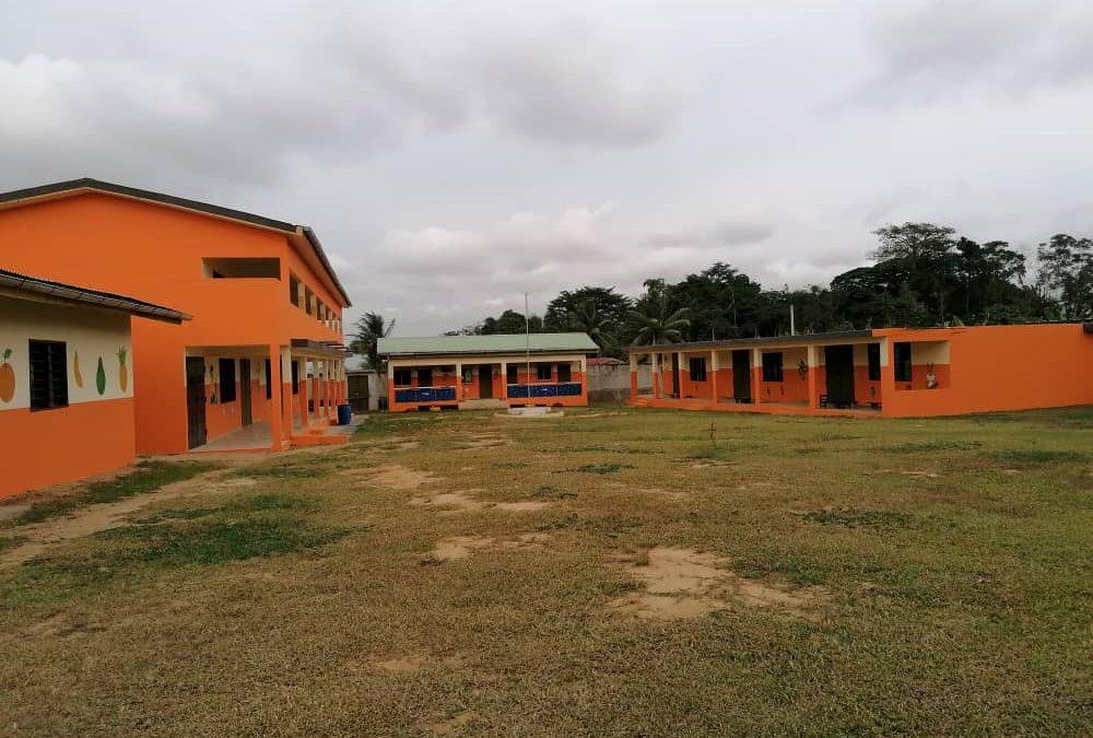 Conclusi i lavori alla scuola di Anyama
